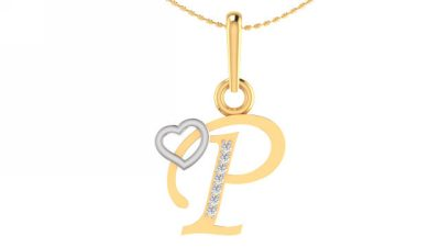 THE P ALPHABET PENDANT