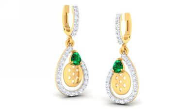 THE EMERALD CROWN EARRING