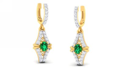 THE EMERALD TANSI EARRING