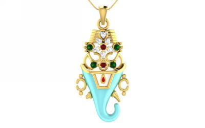DIAMOND STUDDED GANPATI PENDANT