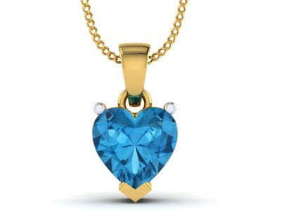 THE SAPPHIRE HEART PENDANT