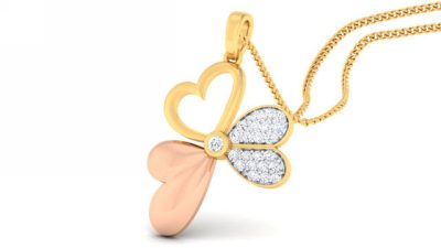 THE BUTTERFLY HEART PENDANT