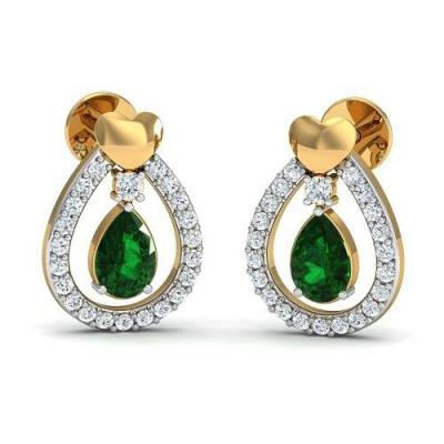 THE EMERALD LOVE STUDS