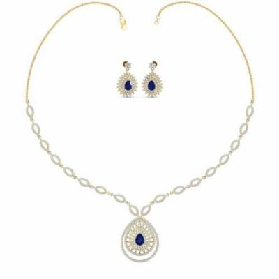 THE DAZZLING SAPPHIRE NECKLACE